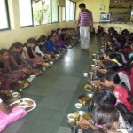 Students taking meal